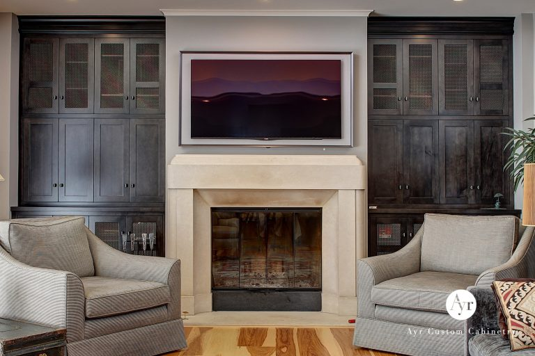 custom cabinets entertainment center in south bend indiana