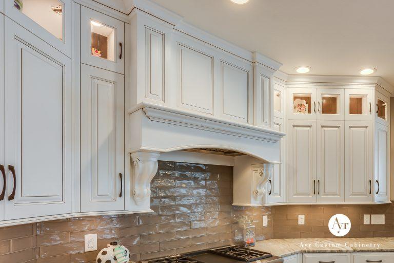 custom designed and built kitchen hood