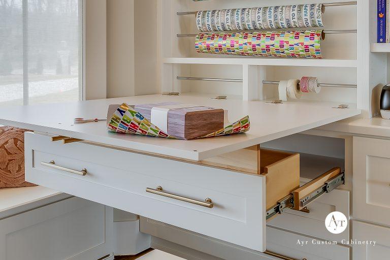 custom office pull out shelves