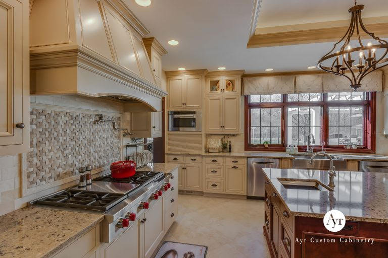 custom kitchen cabinets with island in indiana