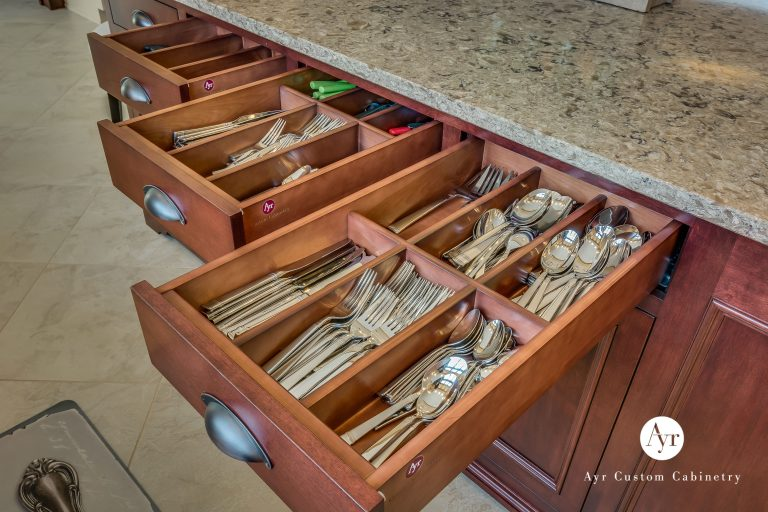 pull out custom kitchen drawer cabinets in bremen, indiana