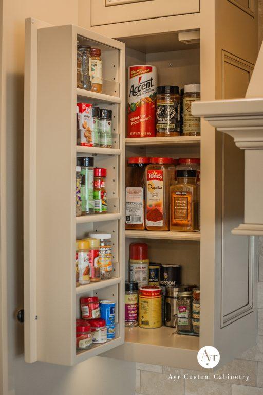 seasoning shelf, custom kitchen cabinets in bremen, indiana