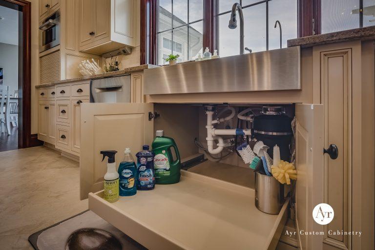 under sink, custom kitchen cabinets in bremen, indiana