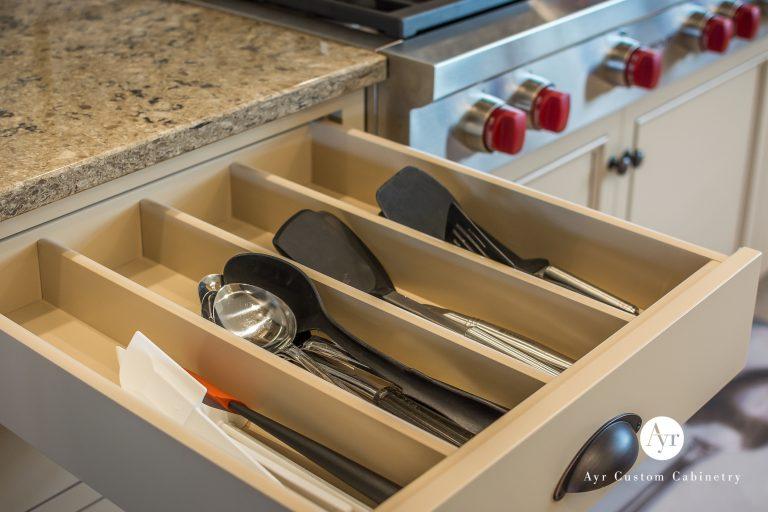 utensil drawer, custom kitchen cabinets in bremen, indiana