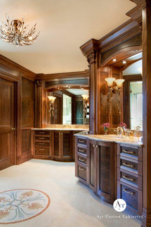 custom bathroom cabinets in burr ridge, indiana