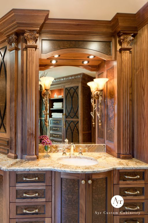 beautiful custom bathroom cabinets in burr ridge, indiana