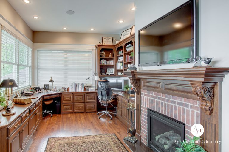 custom office and entertainment cabinets
