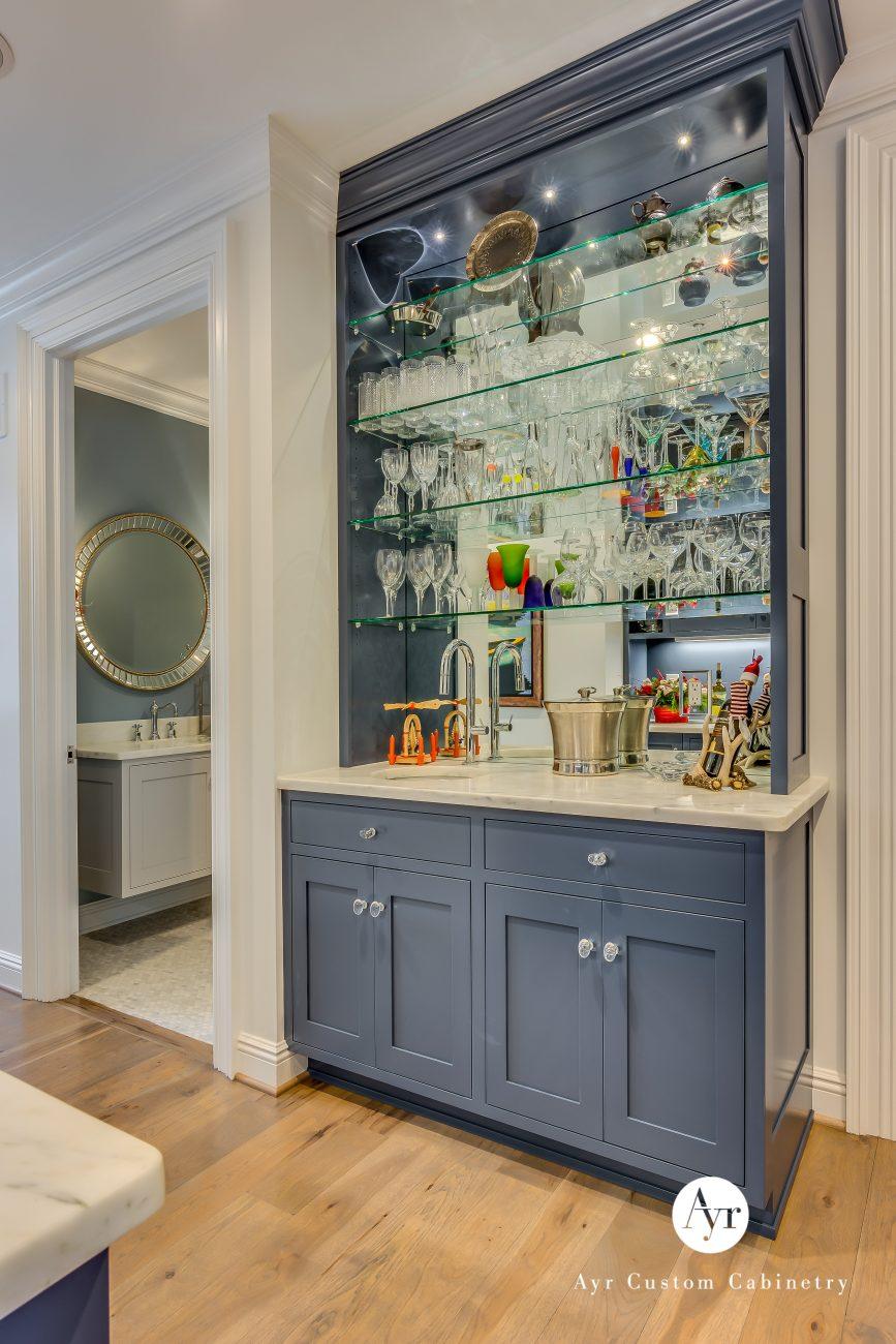 custom bar cabinet in granger, indiana