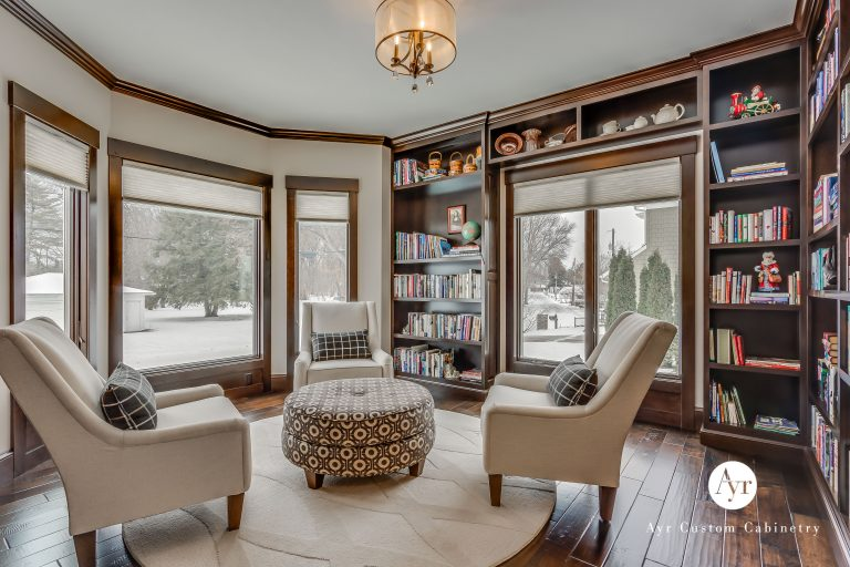 custom library cabinets in elkhart