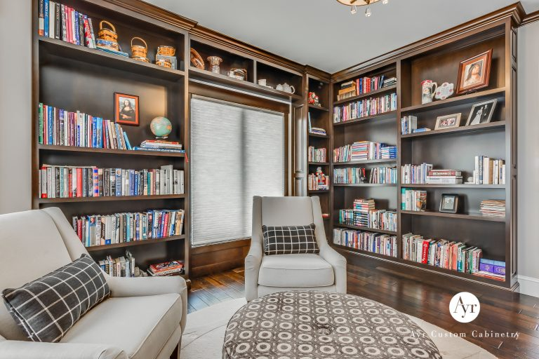 custom library cabinets in elkhart, indiana