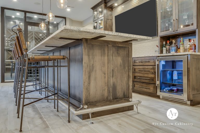 custom bar cabinets with tv in middlebury, indiana