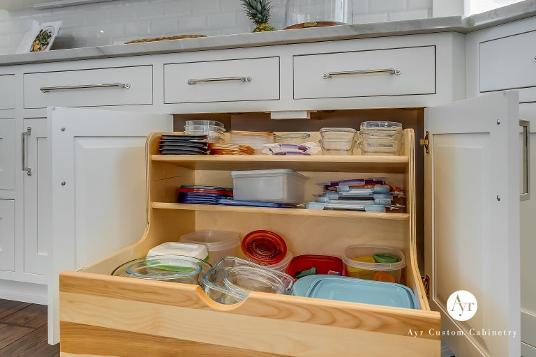 custom kitchen cabinets with a drawer in middlebury, indiana