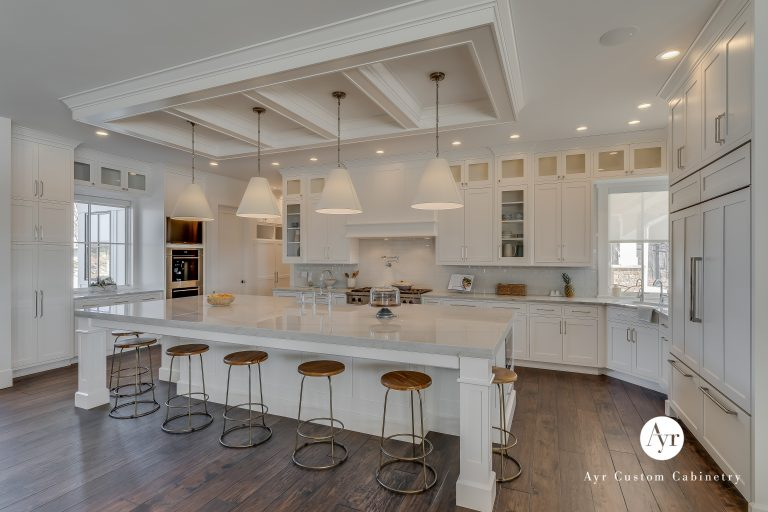 custom kitchen cabinets with an island in middlebury, indiana