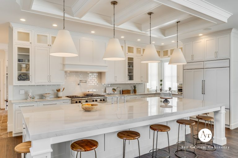 custom kitchen and island cabinets in middlebury, indiana
