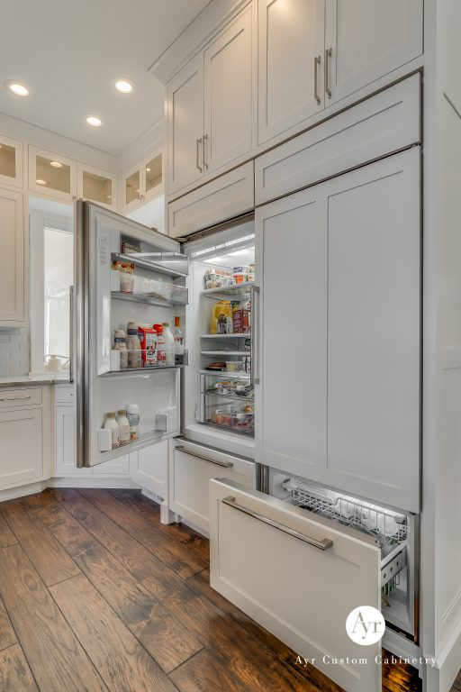 custom kitchen appliance cabinets in middlebury, indiana