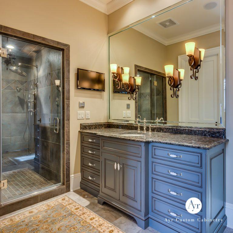 custom bathroom cabinets in granger
