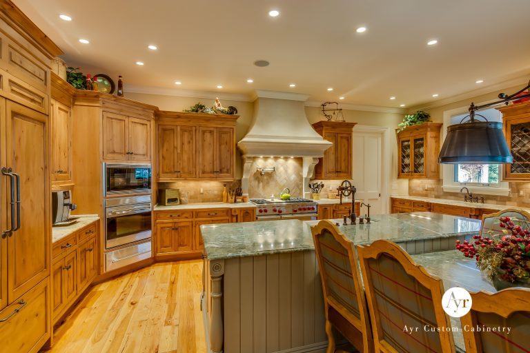 custom kitchen and island cabinets in granger indiana