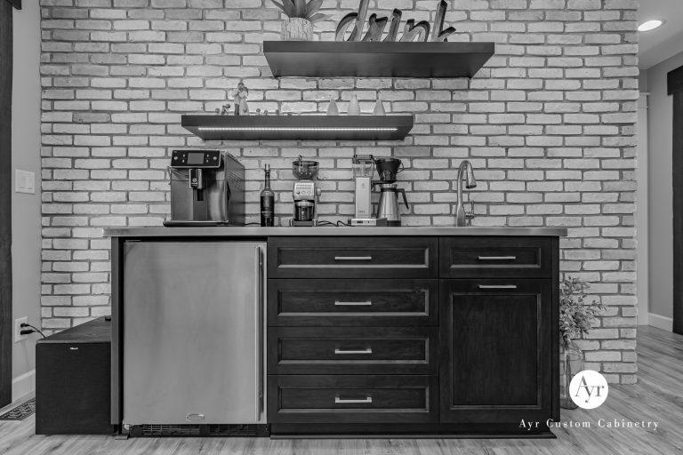coffee bar custom kitchen cabinets in nappanee, indiana