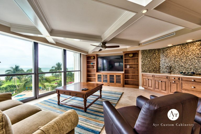 built in entertainment cabinets in naples, florida