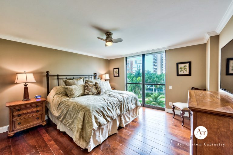 custom bedroom cabinet in naples, florida
