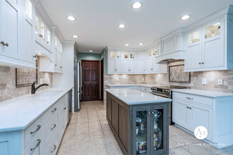 custom kitchen cabinets with an island in nappanee, indiana