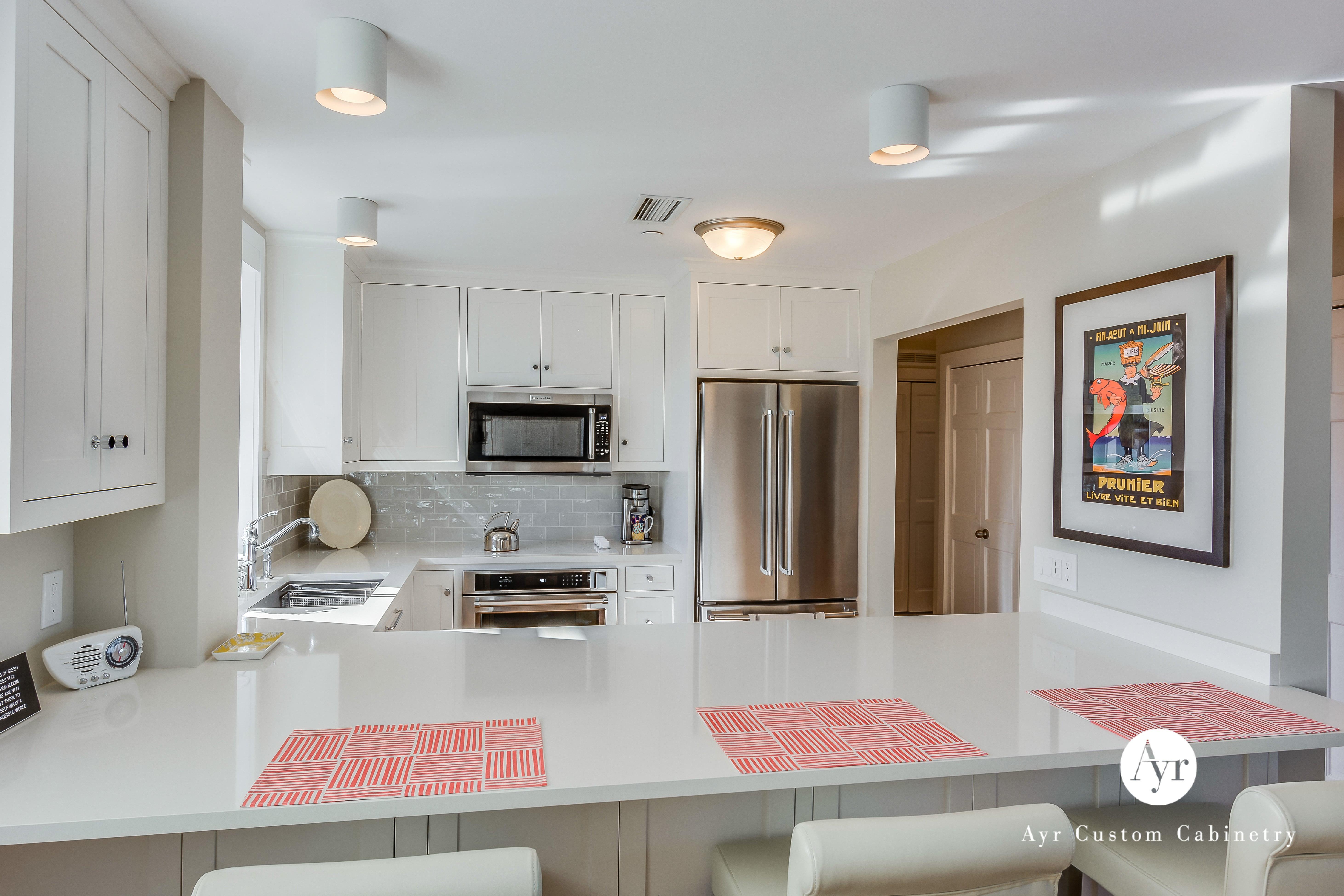 white custom kitchen cabinets in michigan
