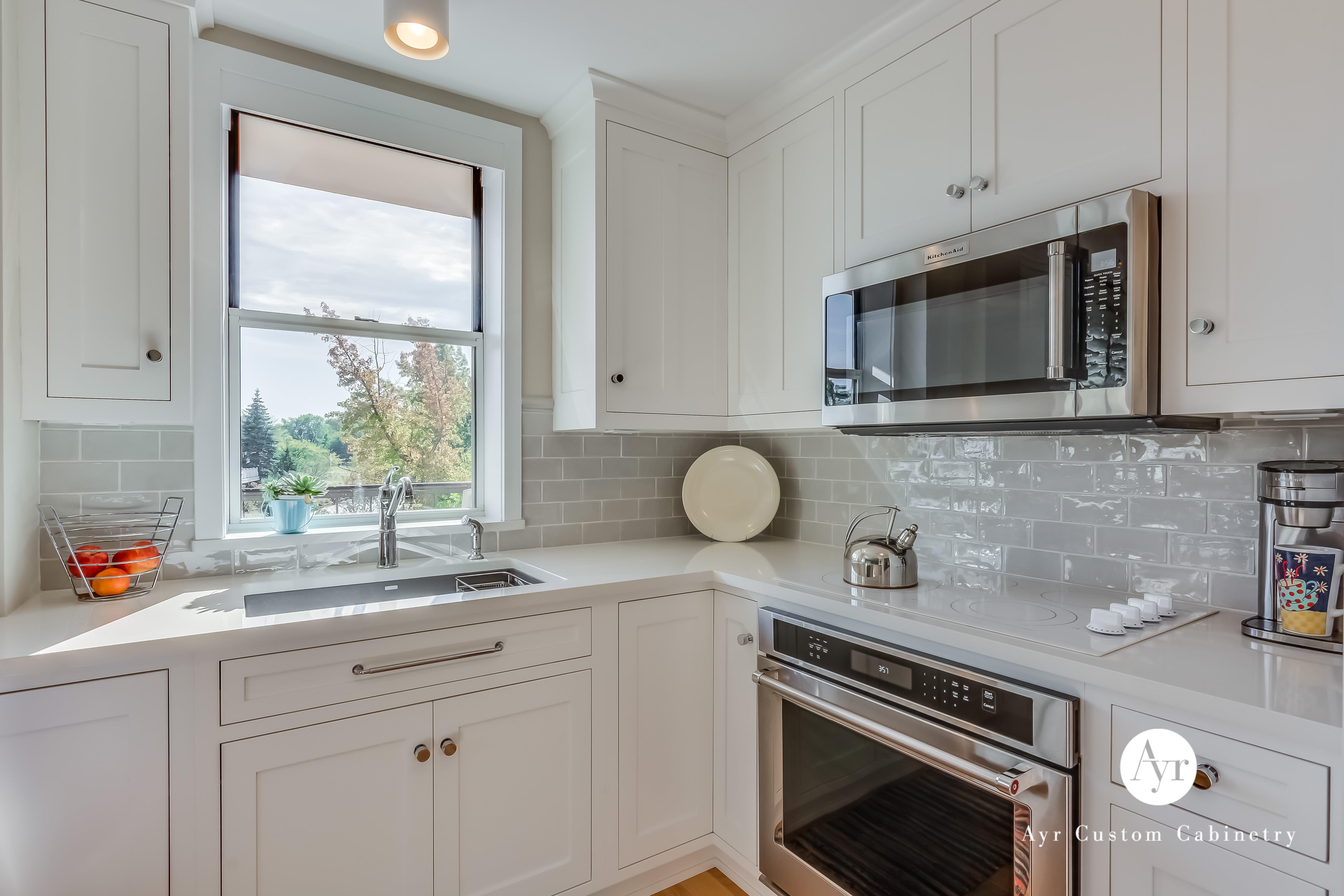 white custom kitchen cabinets in st joseph