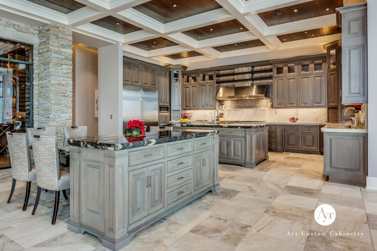 custom kitchen cabinets with custom ceiling trim