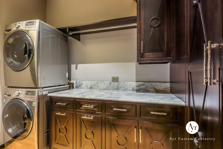 custom laundry cabinets with stackable washer