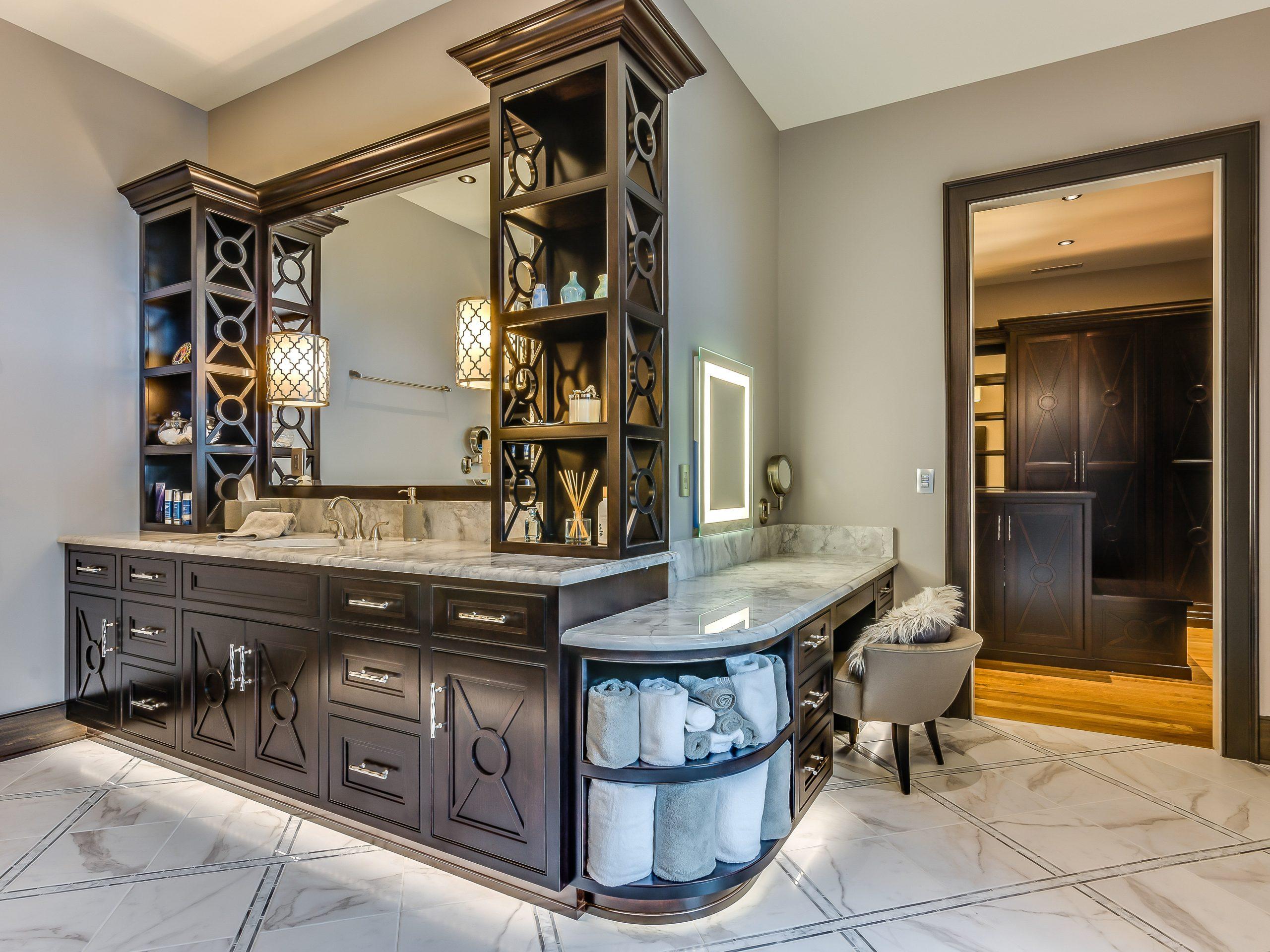 custom designed and built bathroom cabinets
