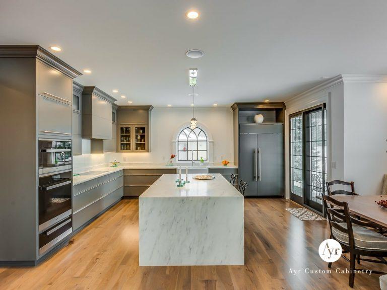 large custom kitchen with island