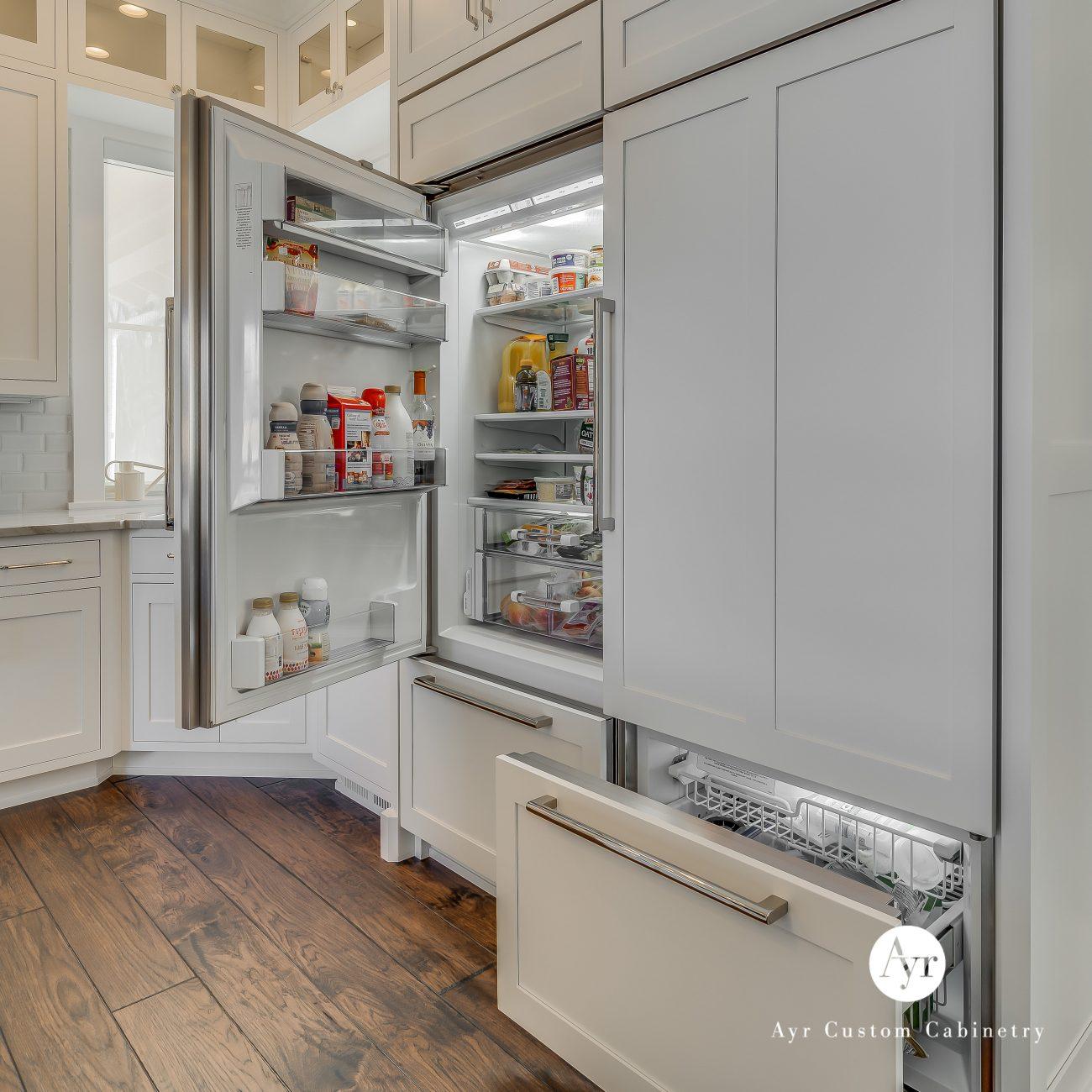 custom kitchen cabinets staley kitchen hidden fridge & freezer