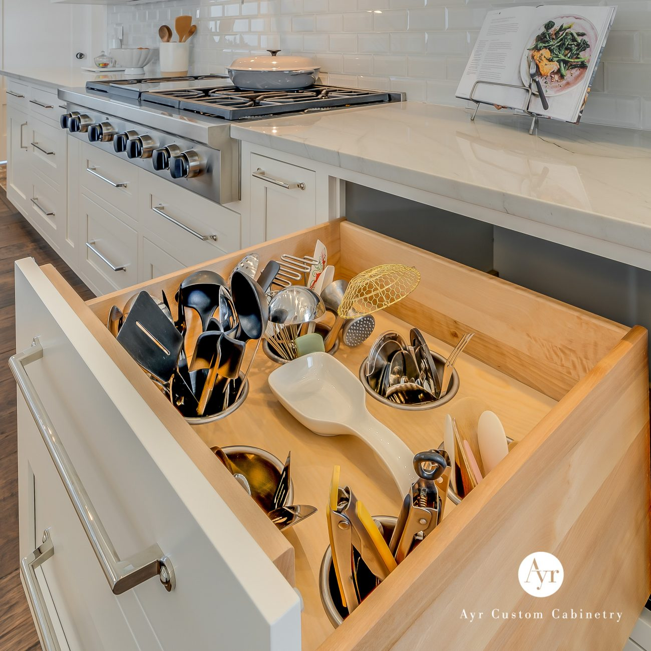custom kitchen cabinets staley project utensil drawer