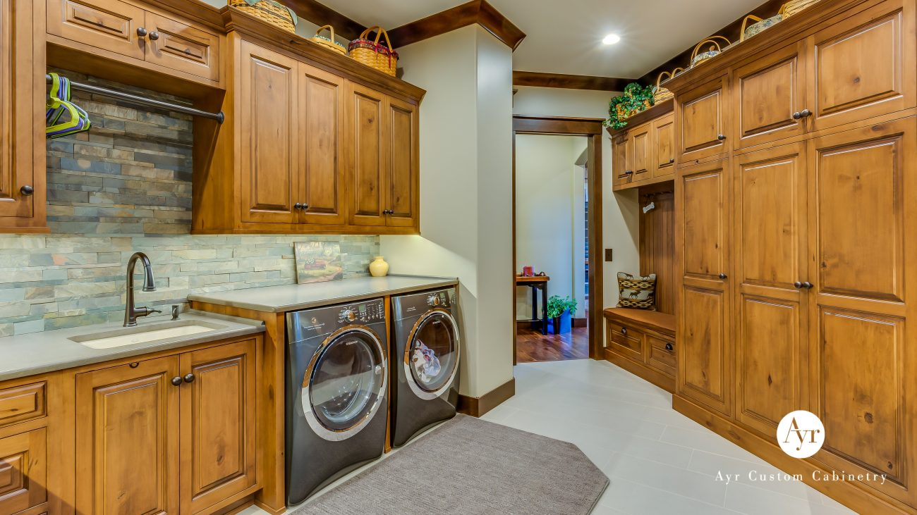 custom laundry cabinets downey project