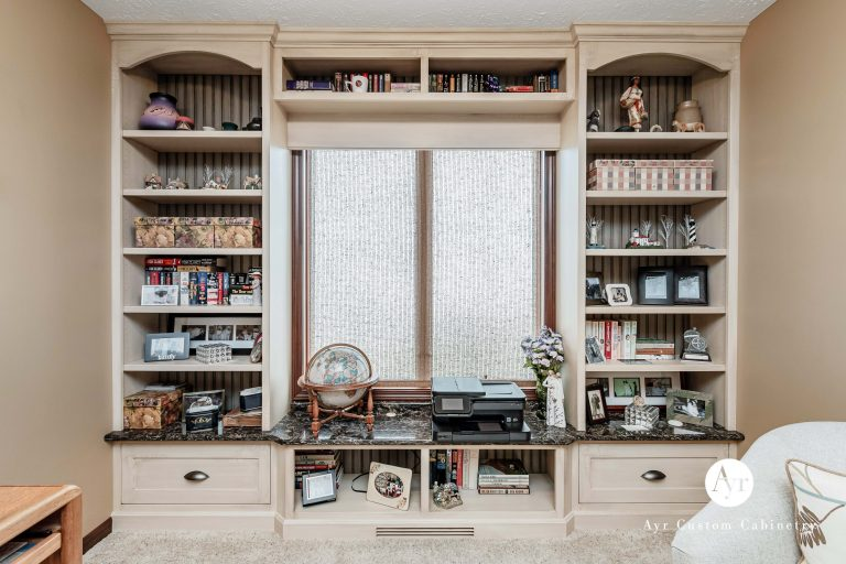 custom library cabinets with built in bookshelves