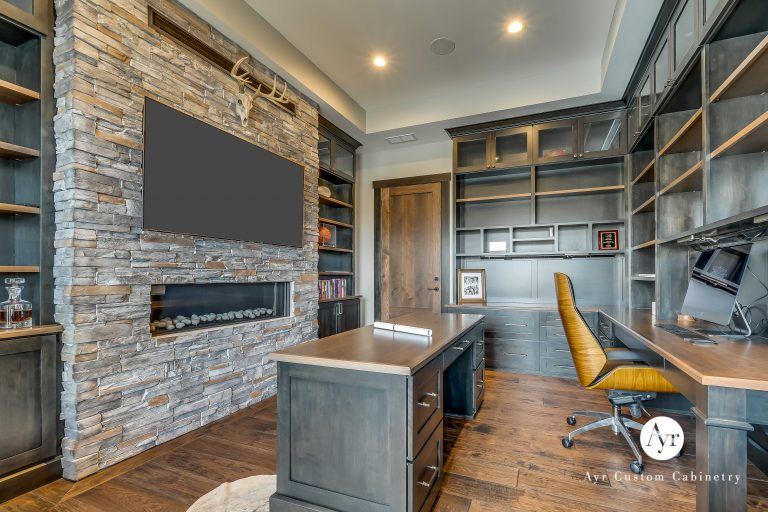 custom office cabinets with entertainment center