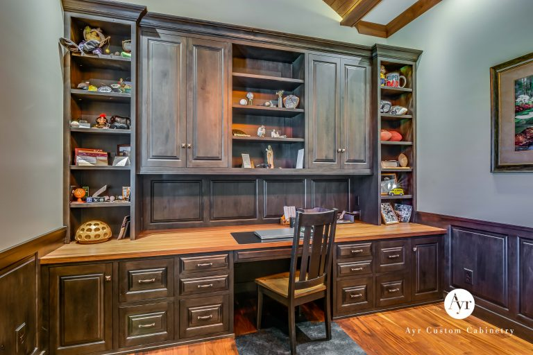 large brown office cabinets