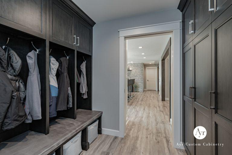 custom full room mudroom cabinetry