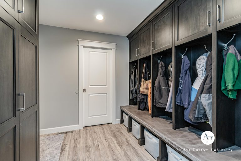 custom mudroom cabinetry in indiana