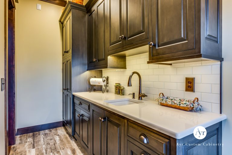 custom mudroom cabinets with a sink