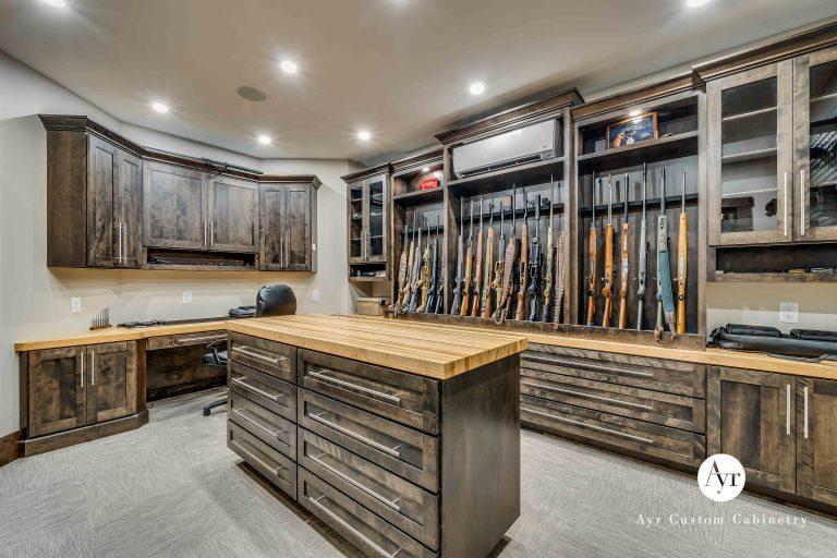 custom room gun cabinets